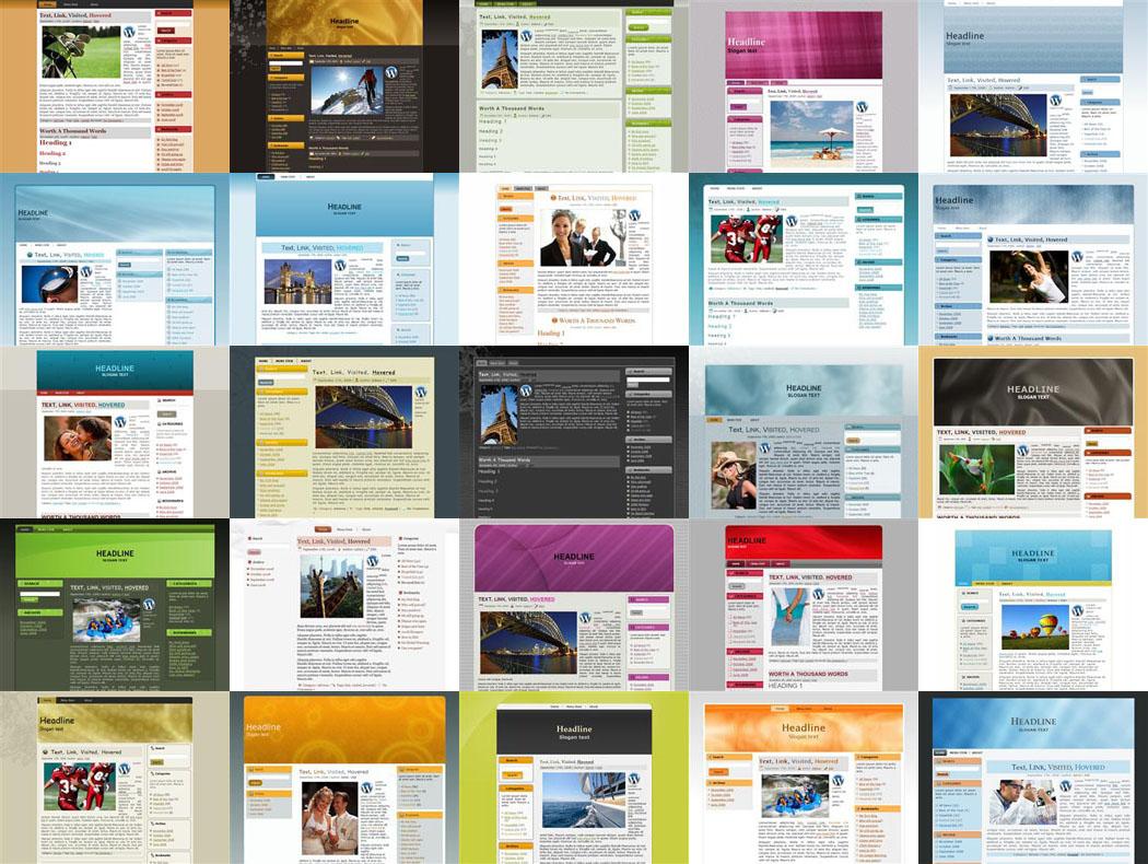wordpress templates are abundant
